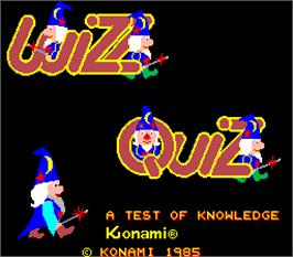 Title screen of Wizz Quiz on the Arcade.