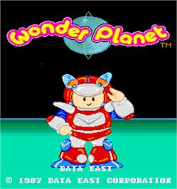 Title screen of Wonder Planet on the Arcade.