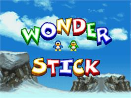 Title screen of Wonder Stick on the Arcade.