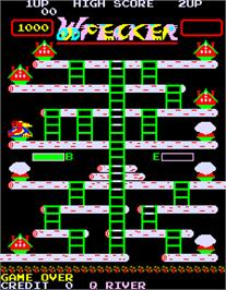 Title screen of Woodpecker on the Arcade.