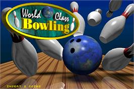 Title screen of World Class Bowling Deluxe on the Arcade.