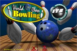 Title screen of World Class Bowling Tournament on the Arcade.