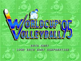 Title screen of World Cup Volley '95 on the Arcade.