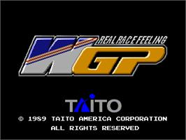 Title screen of World Grand Prix on the Arcade.