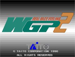 Title screen of World Grand Prix 2 on the Arcade.