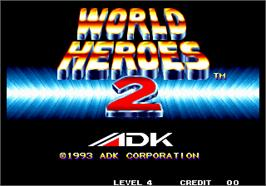 Title screen of World Heroes 2 on the Arcade.