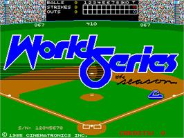 Title screen of World Series: The Season on the Arcade.