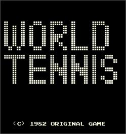 Title screen of World Tennis on the Arcade.