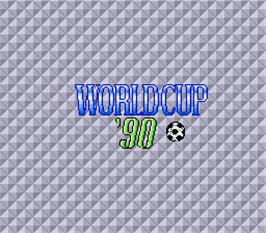 Title screen of Worldcup '90 on the Arcade.