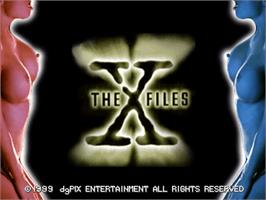 Title screen of X-Files on the Arcade.