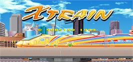 Title screen of X-Train on the Arcade.
