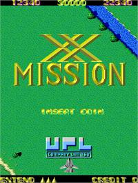 Title screen of XX Mission on the Arcade.
