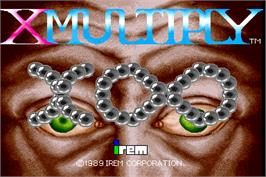 Title screen of X Multiply on the Arcade.
