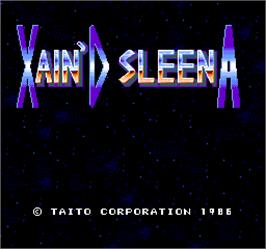 Title screen of Xain'd Sleena on the Arcade.