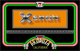 Title screen of Xenon on the Arcade.