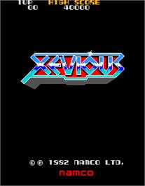 Title screen of Xevious on the Arcade.
