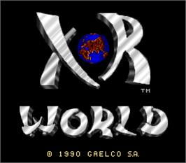Title screen of Xor World on the Arcade.