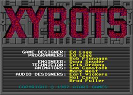Title screen of Xybots on the Arcade.