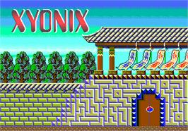 Title screen of Xyonix on the Arcade.