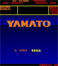 Title screen of Yamato on the Arcade.