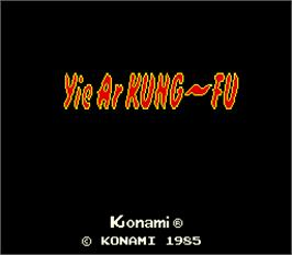 Title screen of Yie Ar Kung-Fu on the Arcade.