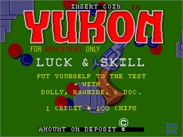 Title screen of Yukon on the Arcade.