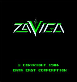 Title screen of Zaviga on the Arcade.