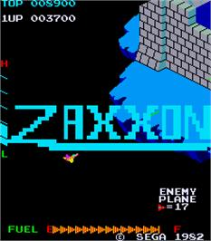 Title screen of Zaxxon on the Arcade.