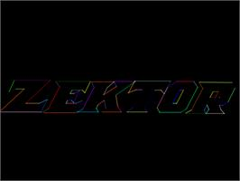Title screen of Zektor on the Arcade.