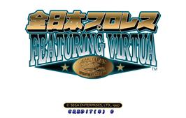 Title screen of Zen Nippon Pro-Wrestling Featuring Virtua on the Arcade.