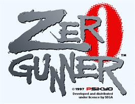 Title screen of Zero Gunner on the Arcade.