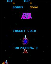 Title screen of Zero Hour on the Arcade.