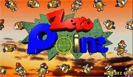 Title screen of Zero Point on the Arcade.