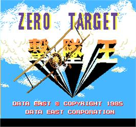 Title screen of Zero Target on the Arcade.