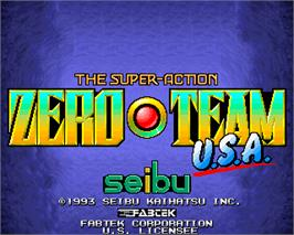 Title screen of Zero Team on the Arcade.