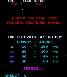 Title screen of Zero Time on the Arcade.