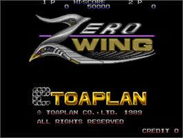 Title screen of Zero Wing on the Arcade.