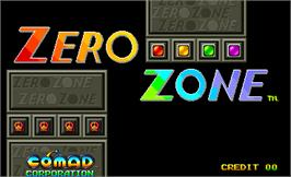 Title screen of Zero Zone on the Arcade.