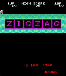 Title screen of Zig Zag on the Arcade.