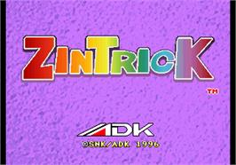Title screen of Zintrick / Oshidashi Zentrix on the Arcade.
