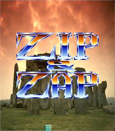 Title screen of Zip & Zap on the Arcade.