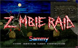Title screen of Zombie Raid on the Arcade.