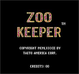 Title screen of Zoo Keeper on the Arcade.