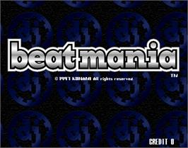 Title screen of beatmania on the Arcade.