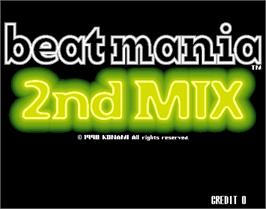 Title screen of beatmania 2nd MIX on the Arcade.
