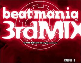 Title screen of beatmania 3rd MIX on the Arcade.