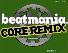 Title screen of beatmania CORE REMIX on the Arcade.