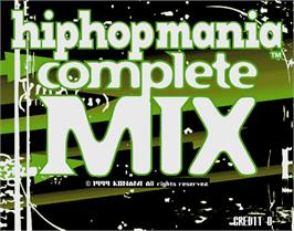 Title screen of hiphopmania complete MIX on the Arcade.