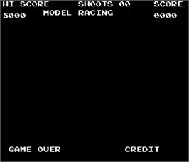 Title screen of unknown Model Racing gun game on the Arcade.