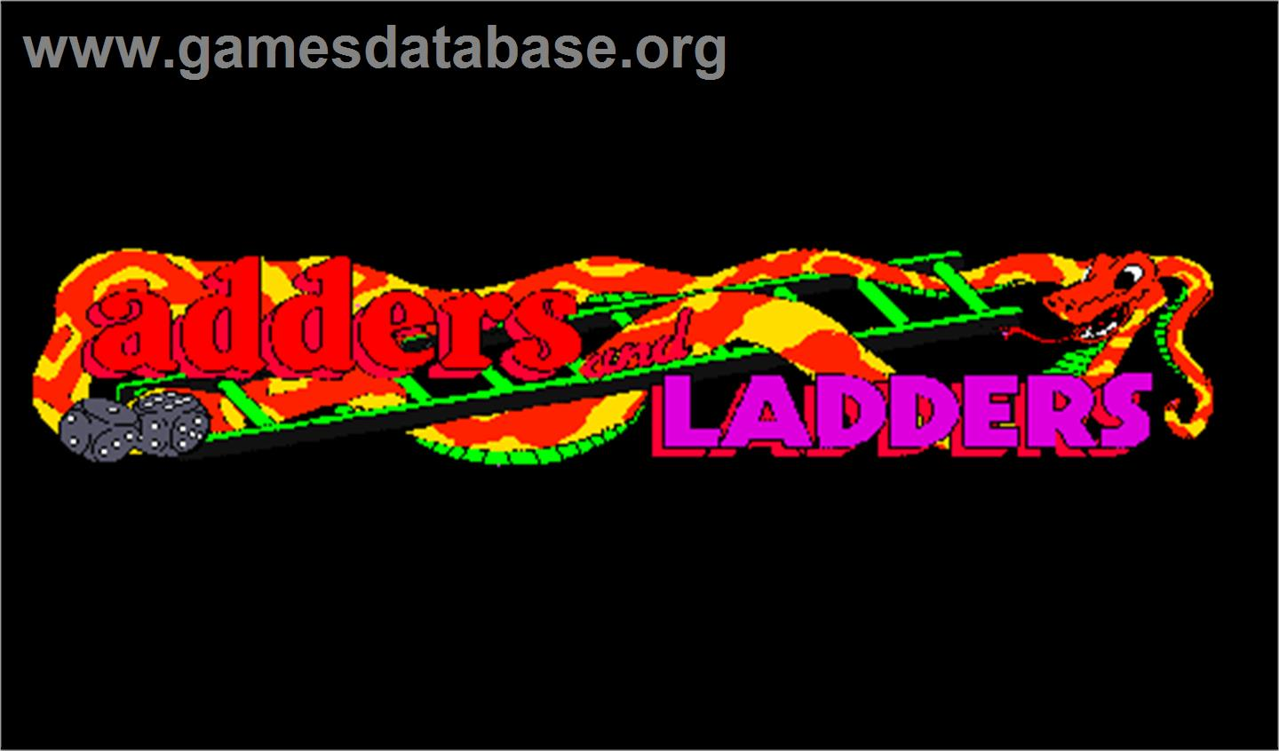 Adders and Ladders - Arcade - Artwork - Title Screen